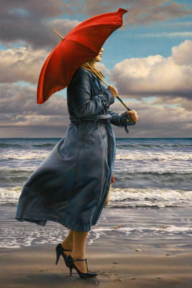 konfigurieren des Kunstdrucks in Wunschgröße Red Umbrella von Kelley, Paul