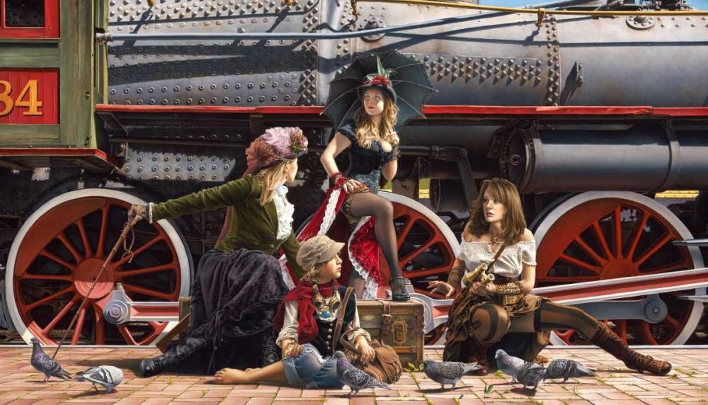 konfigurieren des Kunstdrucks in Wunschgröße Last Train for the Coast von Kelley, Paul