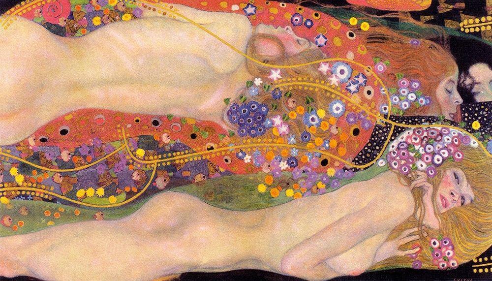 konfigurieren des Kunstdrucks in Wunschgröße Water Serpents II von Klimt, Gustav
