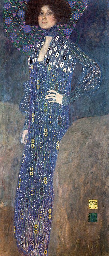 konfigurieren des Kunstdrucks in Wunschgröße Portrait of Emilie Floge von Klimt, Gustav