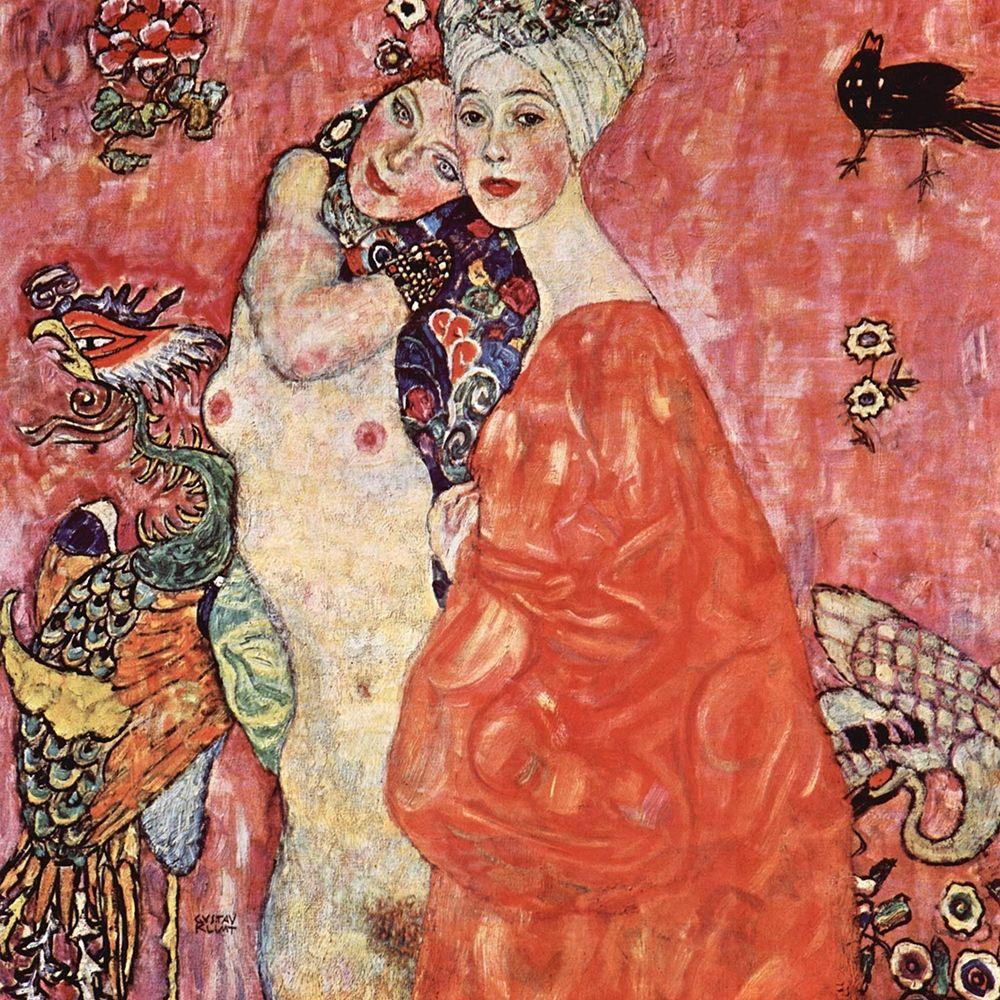 konfigurieren des Kunstdrucks in Wunschgröße The Girlfriends von Klimt, Gustav