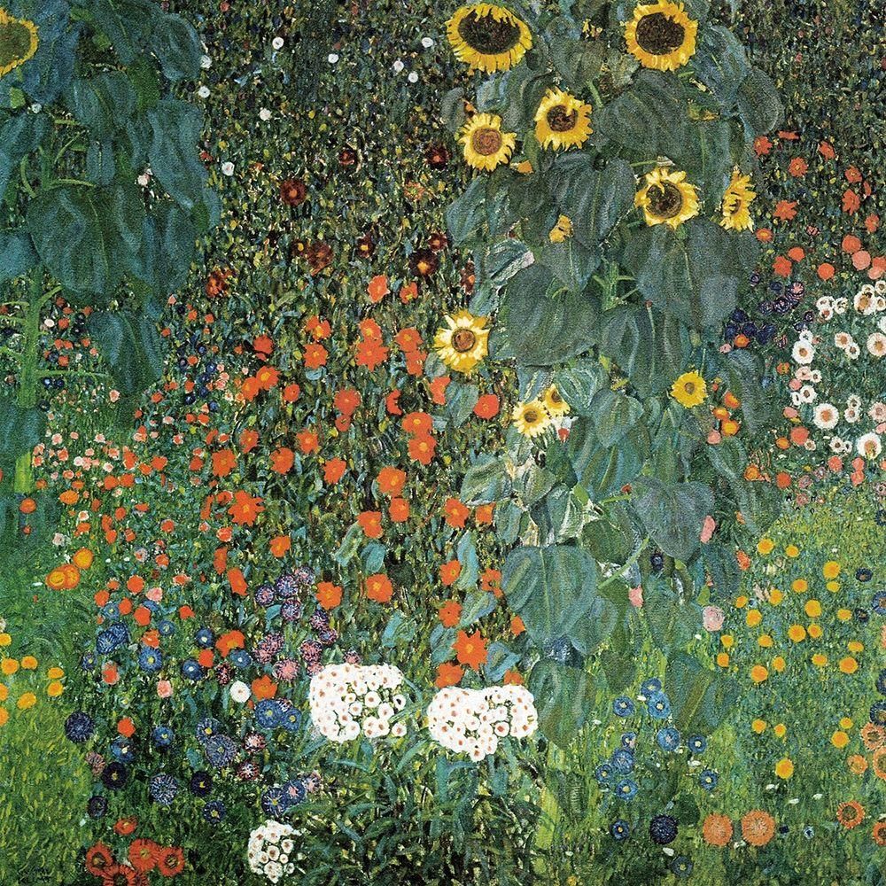 konfigurieren des Kunstdrucks in Wunschgröße Farm Garden with Sunflowers, 1906 von Klimt, Gustav