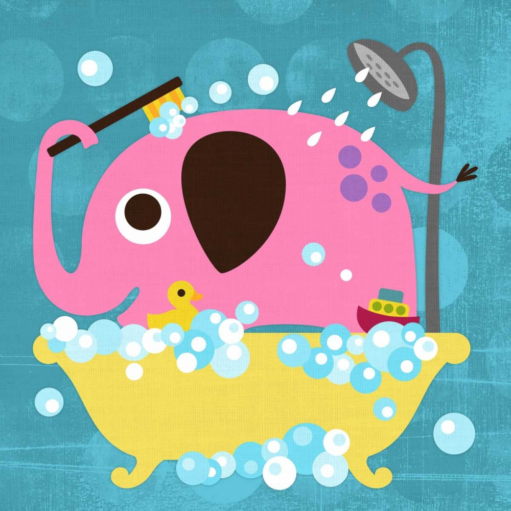 Elephant in Bathtub von Lee, Nancy <br> max. 61 x 61cm <br> Preis: ab 10€