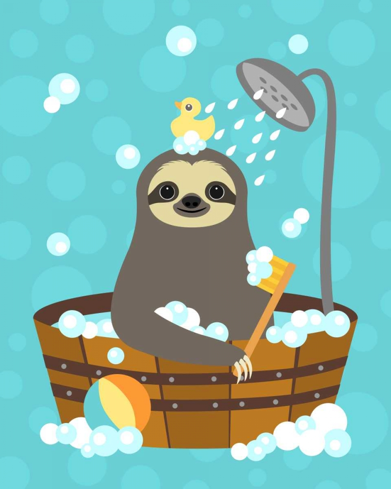 Bathing Sloth von Lee, Nancy <br> max. 104 x 132cm <br> Preis: ab 10€