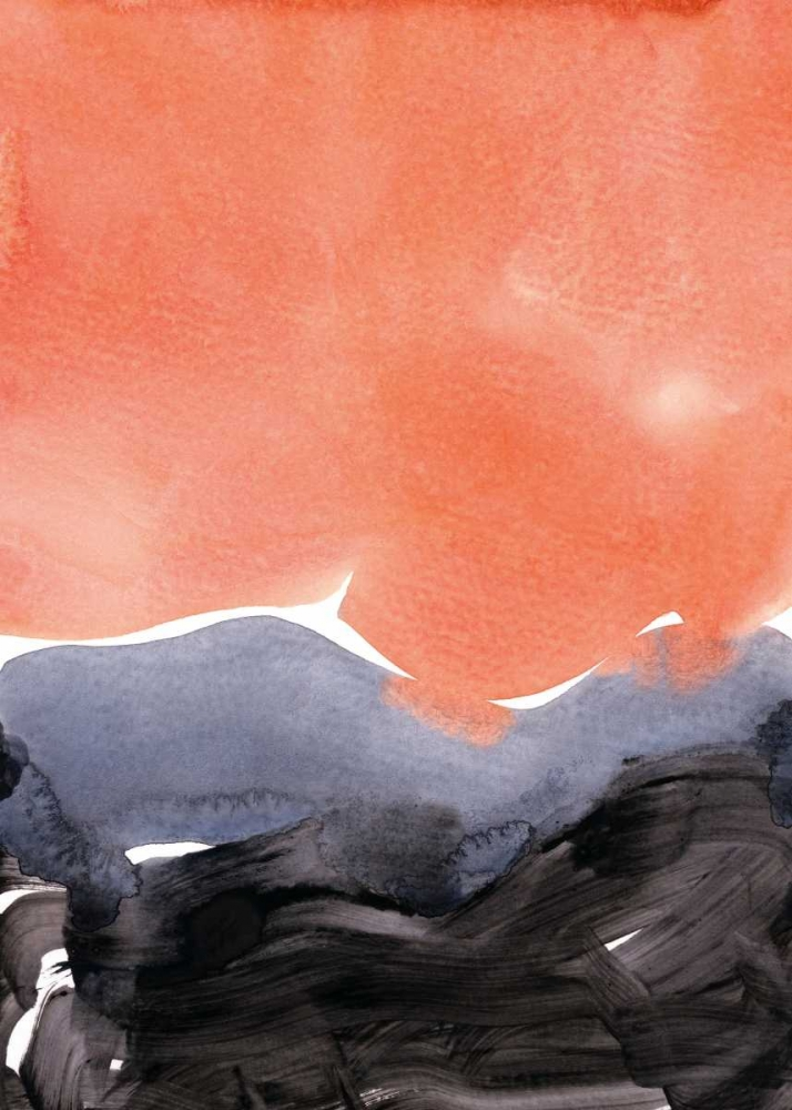 konfigurieren des Kunstdrucks in Wunschgröße Orange Blue Graphite von Lehnhardt, Iris