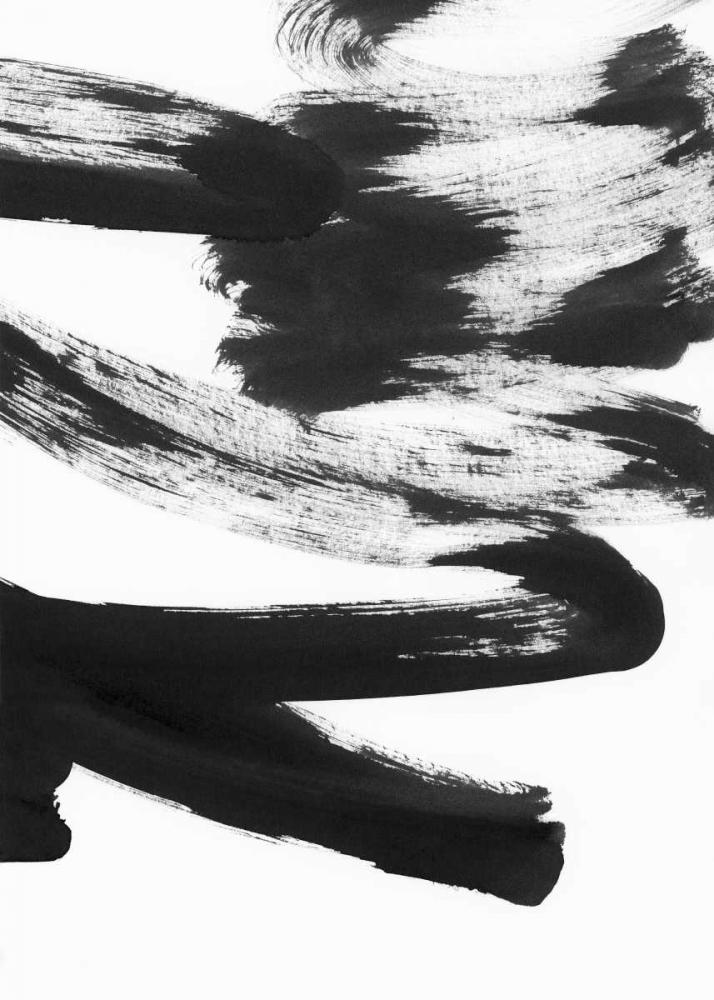 konfigurieren des Kunstdrucks in Wunschgröße Black and White Strokes 5 von Lehnhardt, Iris