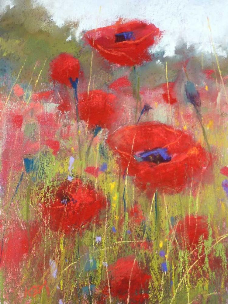 konfigurieren des Kunstdrucks in Wunschgröße In the Poppy Field von Margulis, Karen