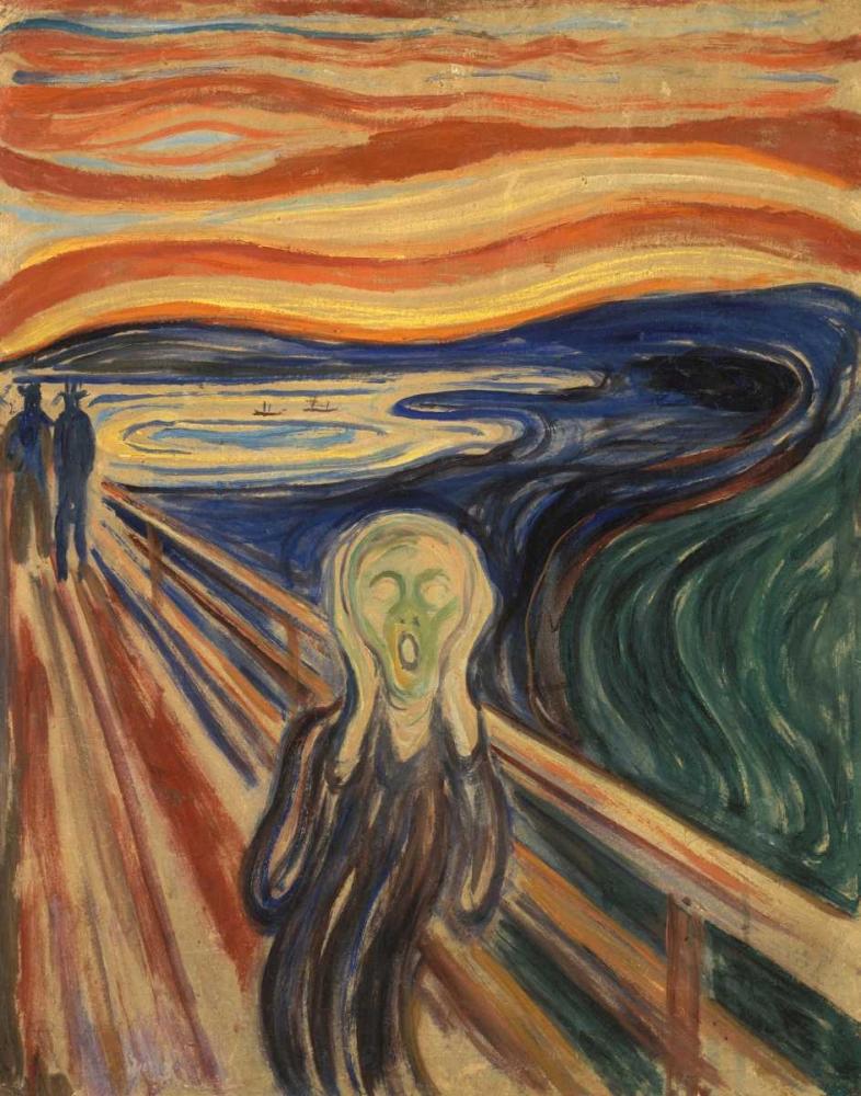 The Scream von Munch, Edvard <br> max. 102 x 132cm <br> Preis: ab 10€