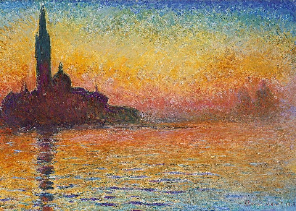 konfigurieren des Kunstdrucks in Wunschgröße Saint-Georges majeur au cr puscule von Monet, Claude