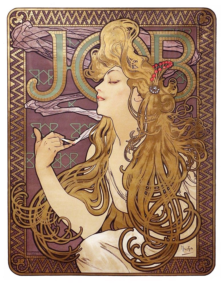 Job Cigarette Rolling Papers Advertisement, 1897