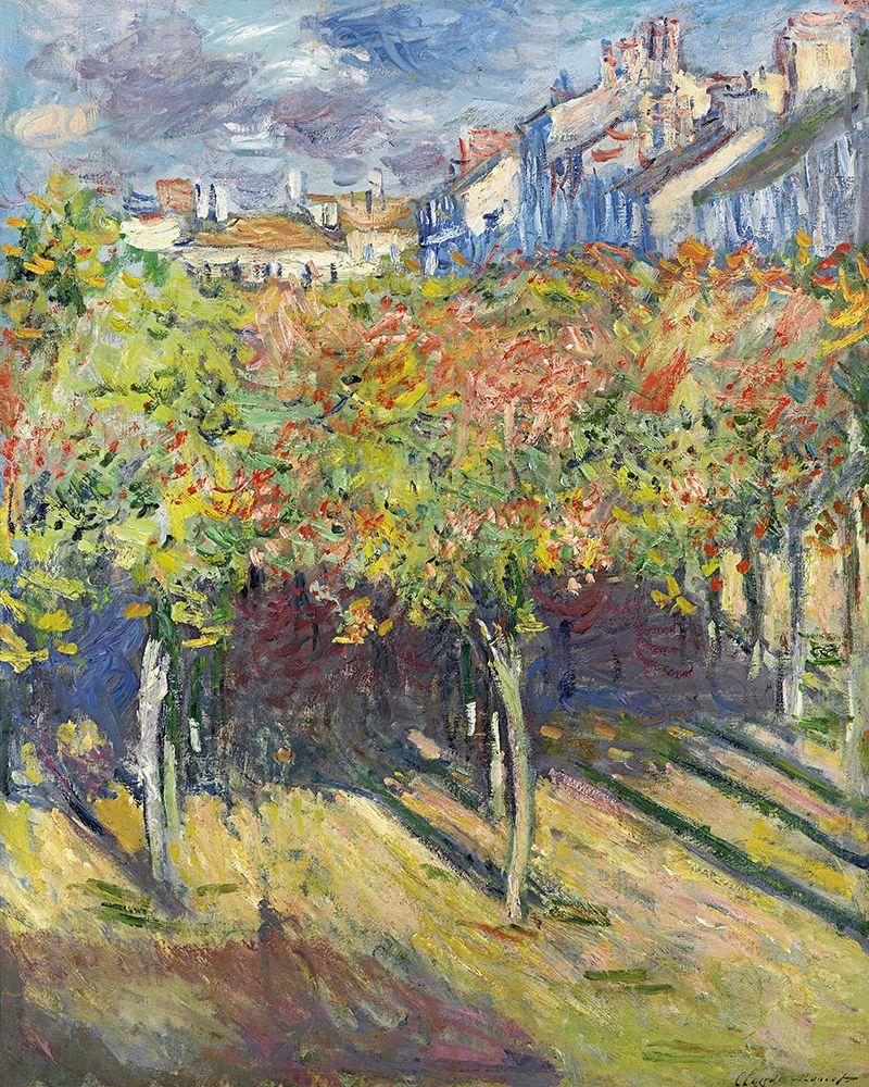 konfigurieren des Kunstdrucks in Wunschgröße The Lindens of Poissy, 1882 von Monet, Claude