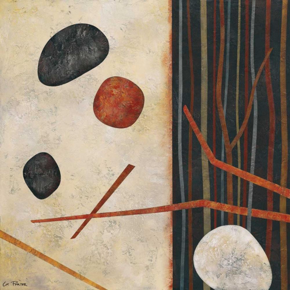 konfigurieren des Kunstdrucks in Wunschgröße Sticks and Stones II von Porter, Glenys