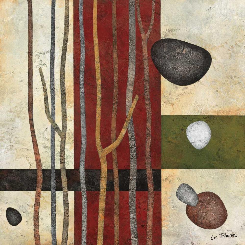 konfigurieren des Kunstdrucks in Wunschgröße Sticks and Stones V von Porter, Glenys