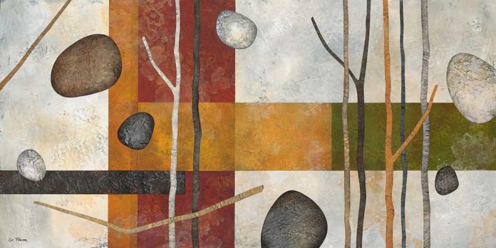 konfigurieren des Kunstdrucks in Wunschgröße Sticks and Stones IX von Porter, Glenys