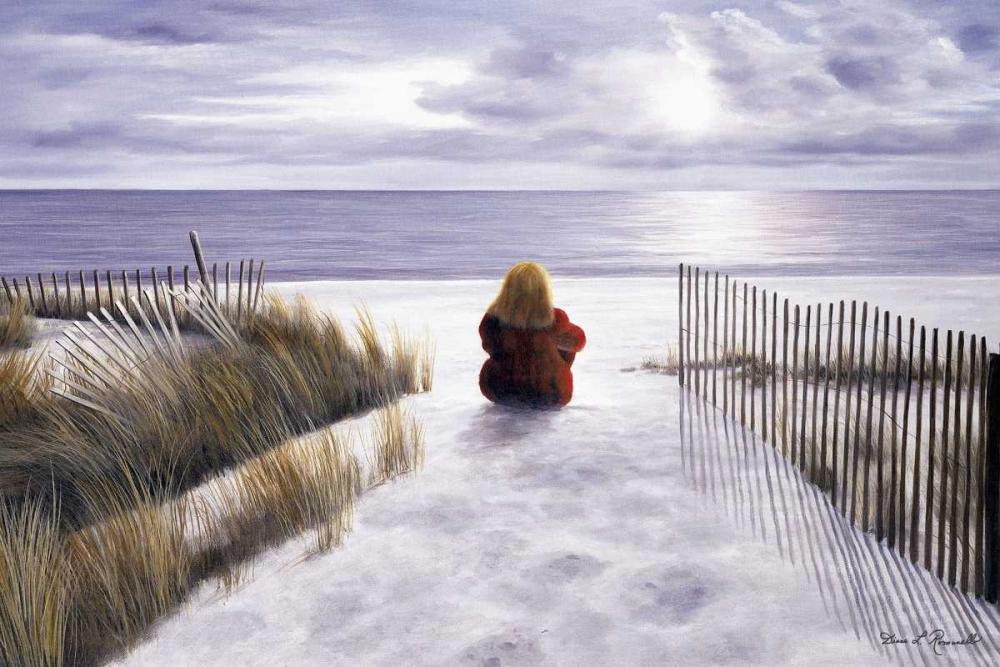 konfigurieren des Kunstdrucks in Wunschgröße Girl on the Beach von Romanello, Diane