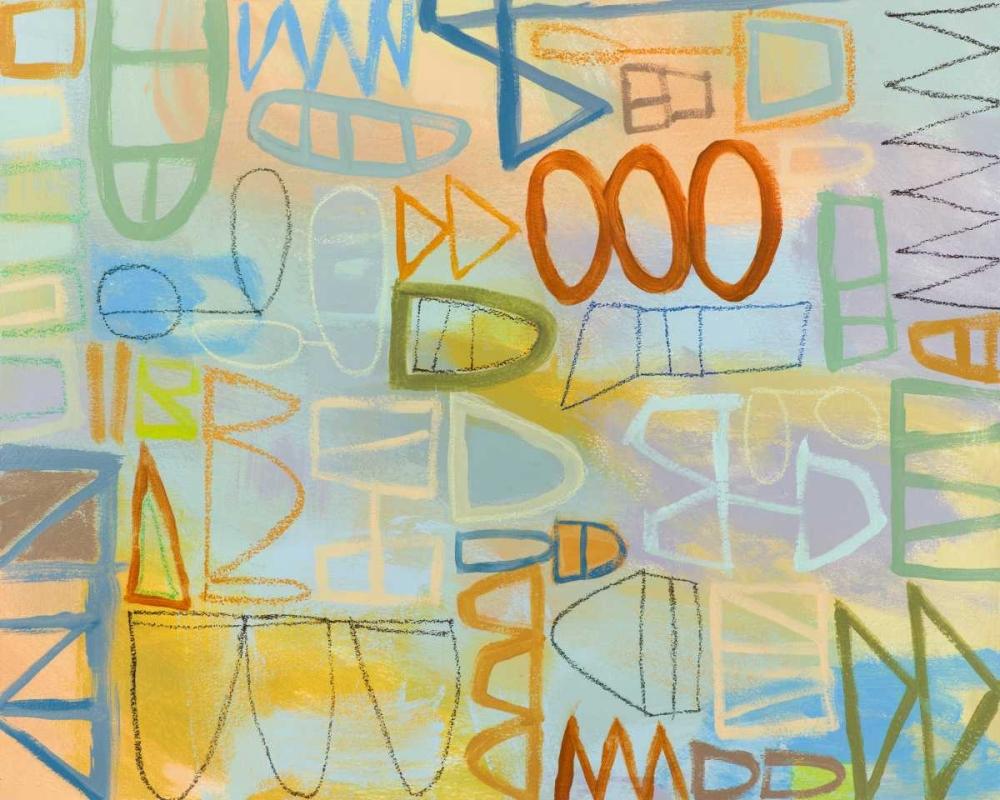 konfigurieren des Kunstdrucks in Wunschgröße Duet Series IV von Richardson-Baughman, Janet