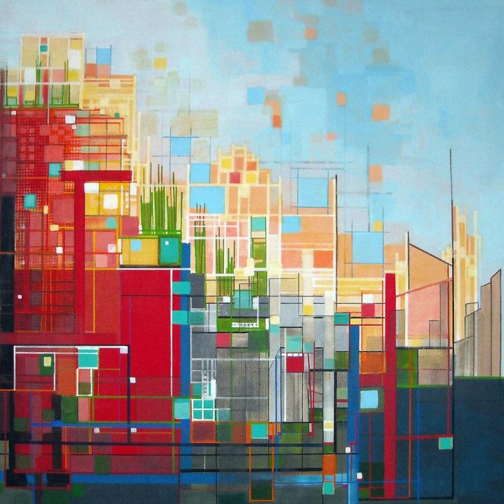 konfigurieren des Kunstdrucks in Wunschgröße Neighborhood 8 Meridian von Shannon, Carol Joy
