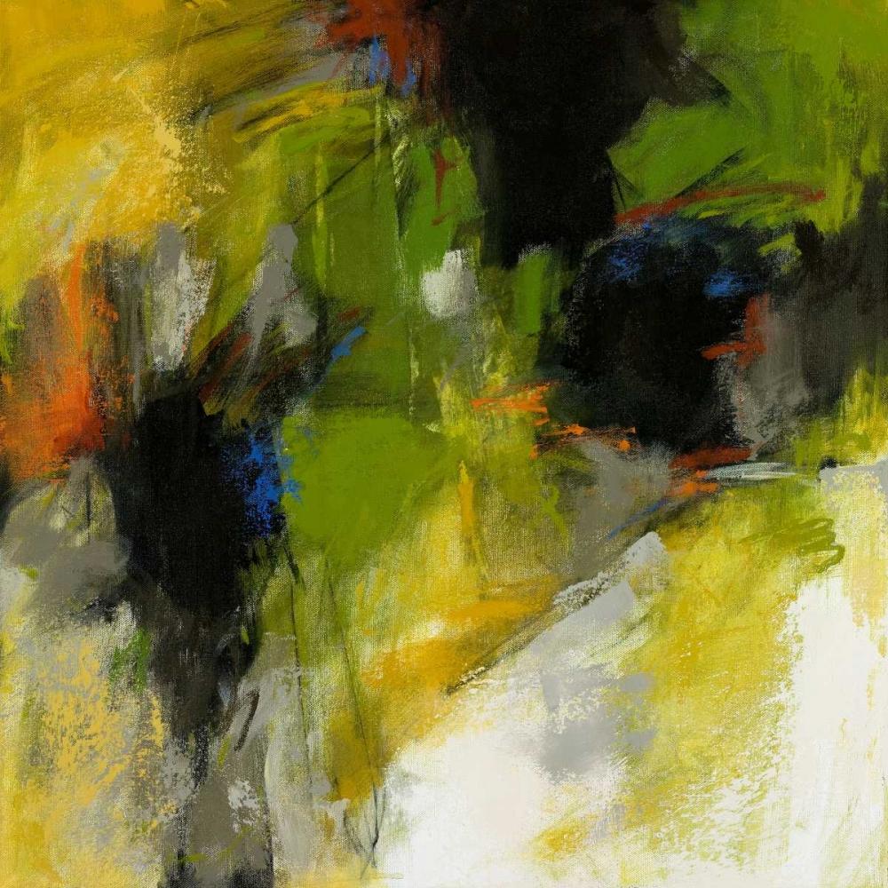 konfigurieren des Kunstdrucks in Wunschgröße Untitled Abstract with Green and Black von Stewart, Debora