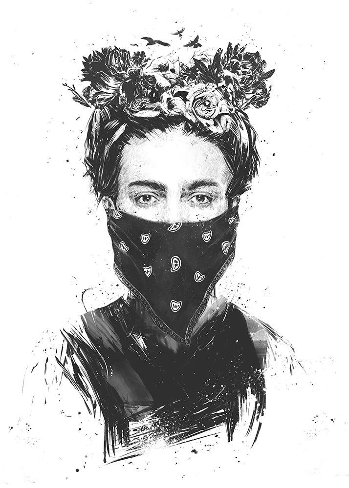 konfigurieren des Kunstdrucks in Wunschgröße Rebel Girl von Solti, Balazs