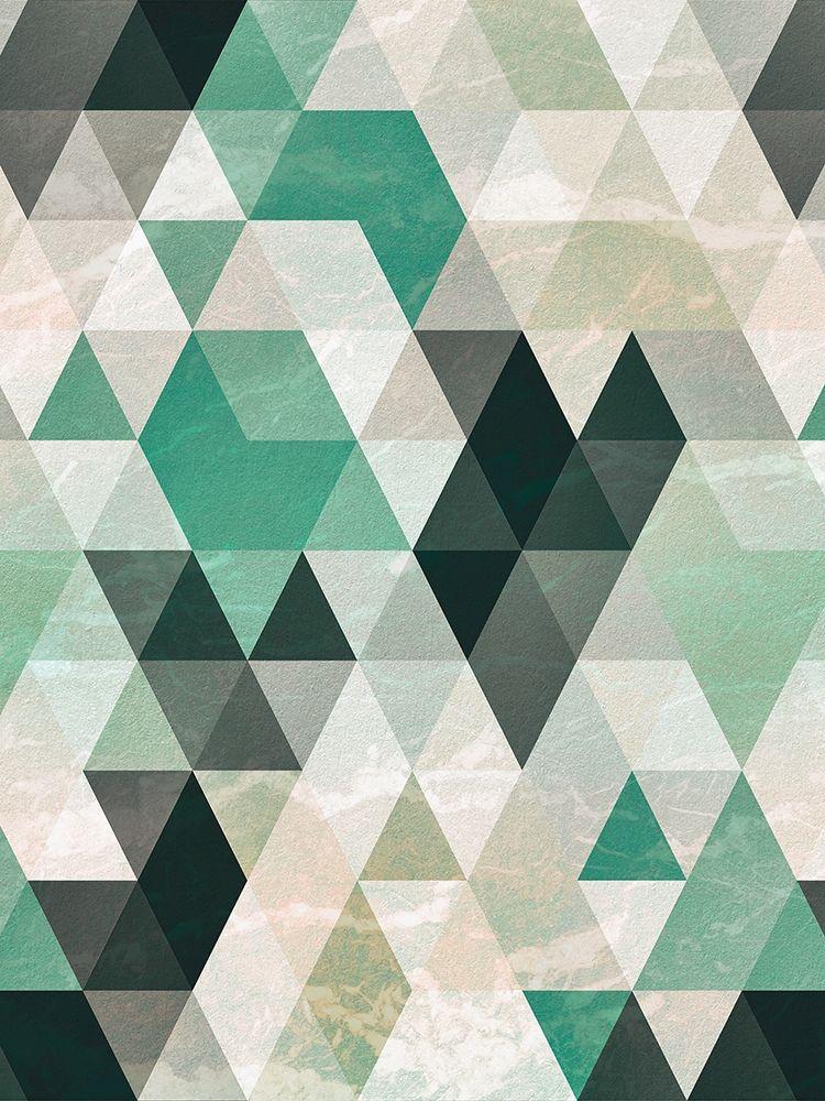 konfigurieren des Kunstdrucks in Wunschgröße Triangle Pattern von Tai Prints