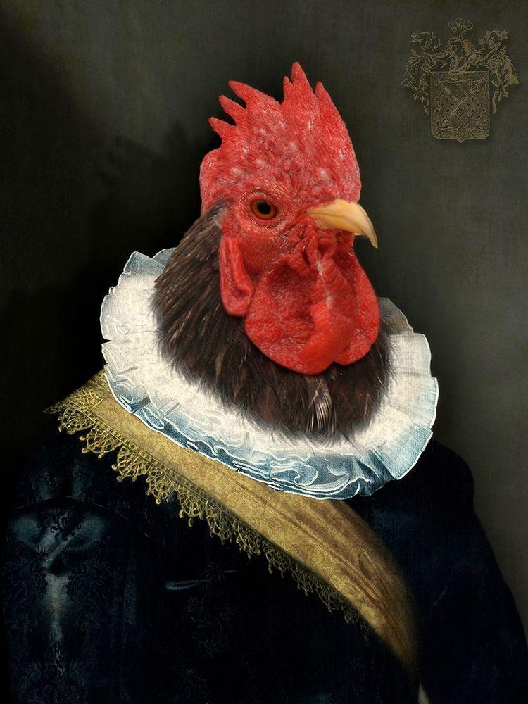 konfigurieren des Kunstdrucks in Wunschgröße Le Coq Hardi von Tyberghien, Philippe