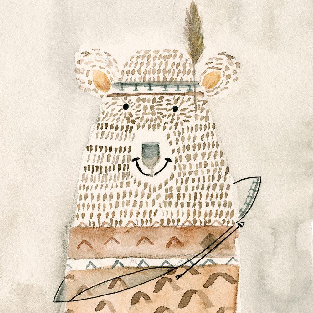 konfigurieren des Kunstdrucks in Wunschgröße Native Bear von Timbrook, Natalie