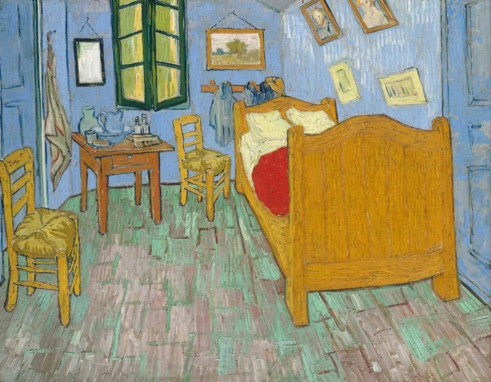 konfigurieren des Kunstdrucks in Wunschgröße The Bedroom 1888 von Van Gogh, Vincent