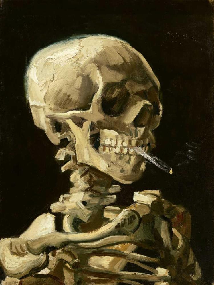konfigurieren des Kunstdrucks in Wunschgröße Skull with Burning Cigarette von Van Gogh, Vincent
