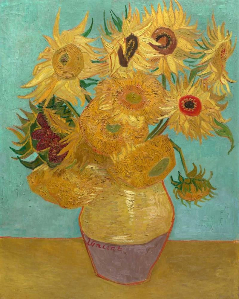 konfigurieren des Kunstdrucks in Wunschgröße Sunflowers 1889 von Van Gogh, Vincent