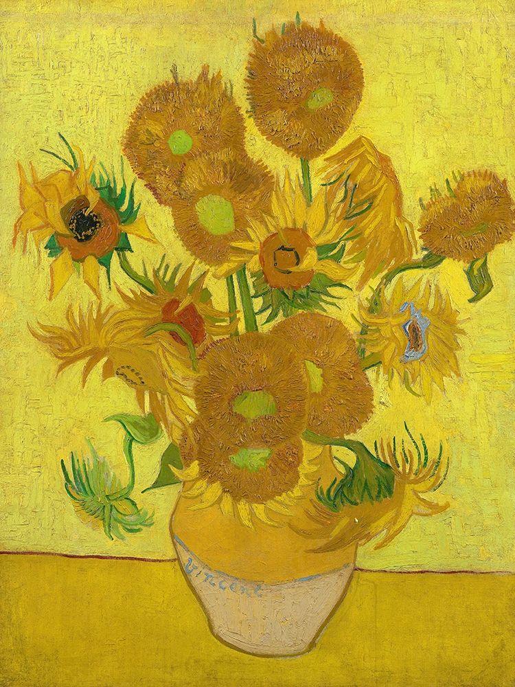konfigurieren des Kunstdrucks in Wunschgröße Sunflowers von Van Gogh, Vincent