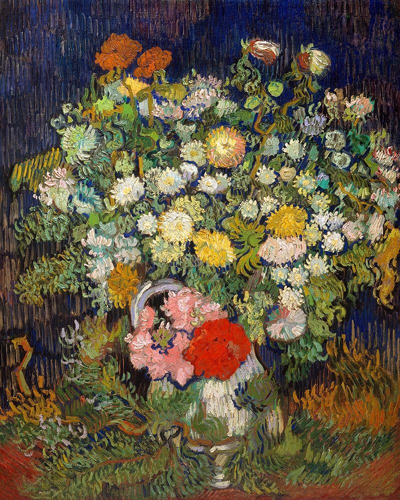 konfigurieren des Kunstdrucks in Wunschgröße Bouquet of Flowers in a Vase, 1890 von Van Gogh, Vincent