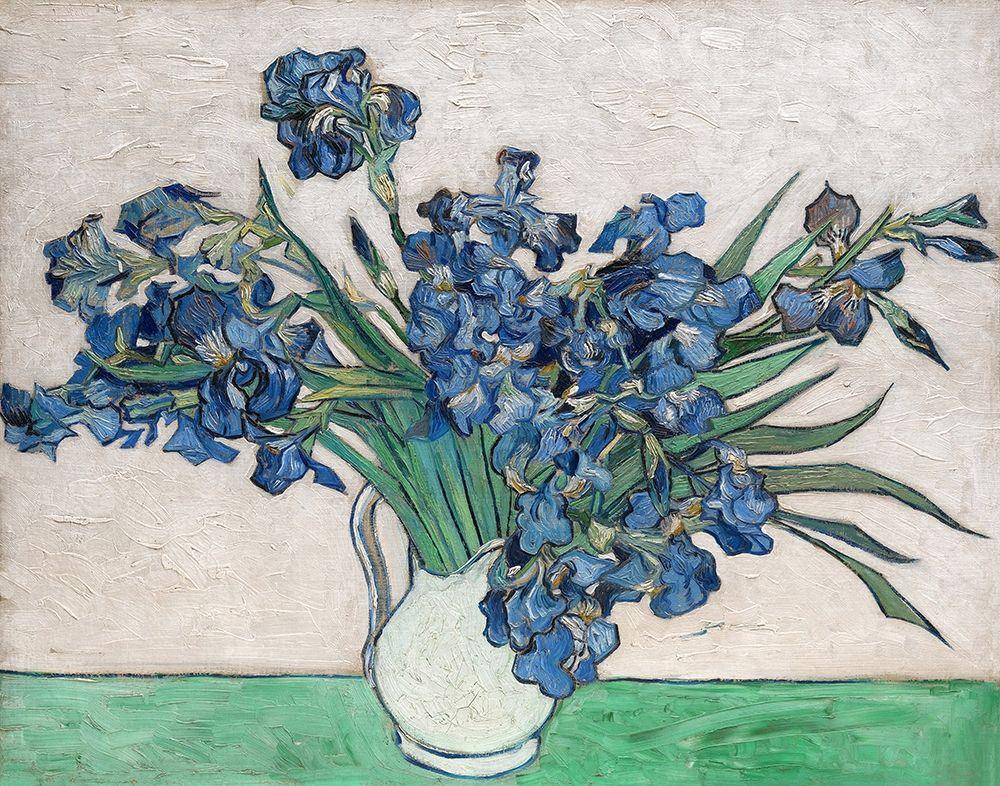 konfigurieren des Kunstdrucks in Wunschgröße Irises, 1890 (White Vase) von Van Gogh, Vincent