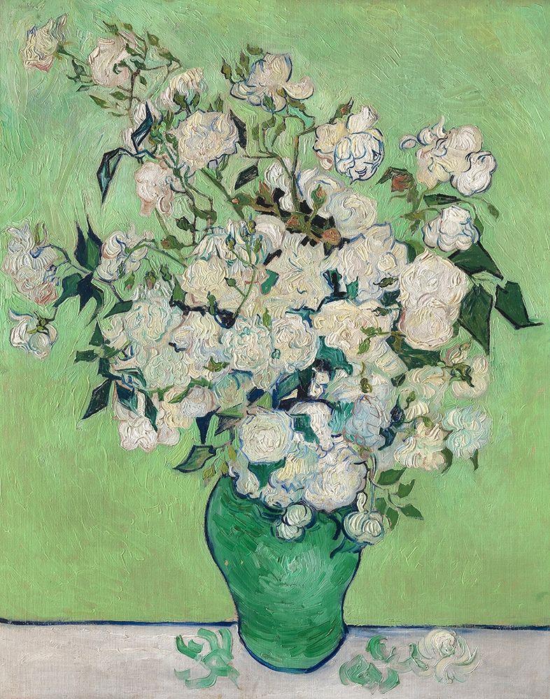 konfigurieren des Kunstdrucks in Wunschgröße Roses, 1890 (Green Vase) von Van Gogh, Vincent
