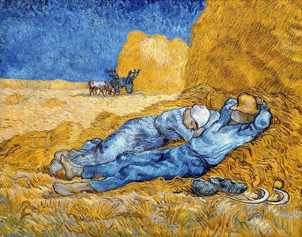 konfigurieren des Kunstdrucks in Wunschgröße Noon - Rest from Work, 1891 von Van Gogh, Vincent