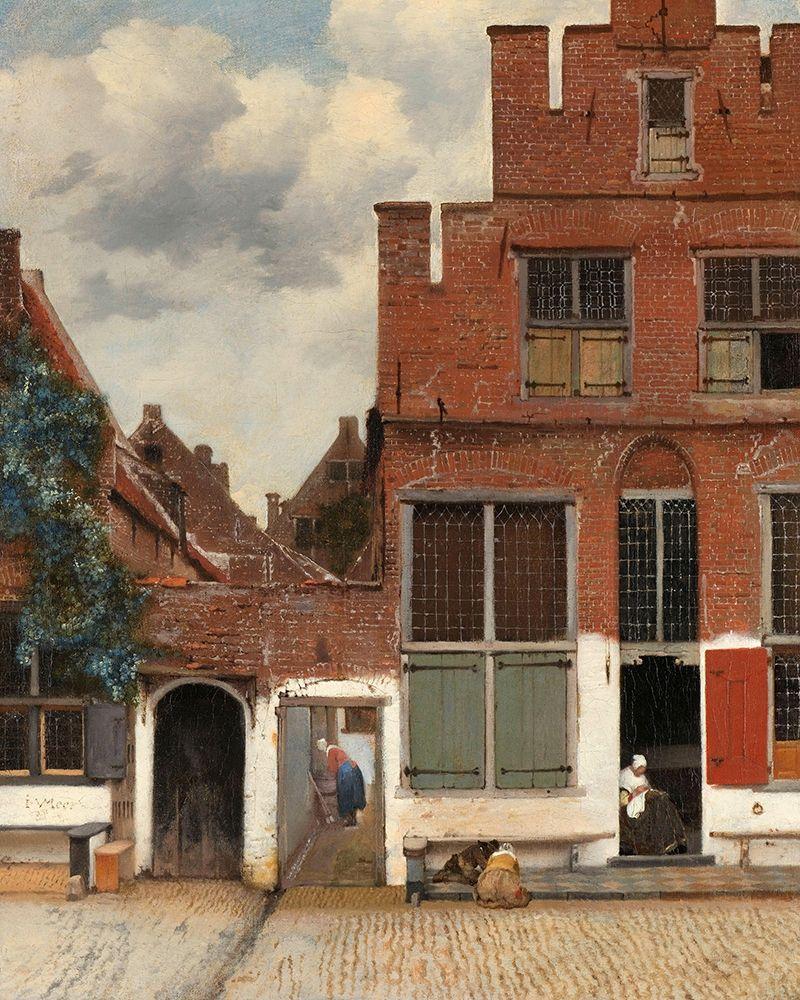 konfigurieren des Kunstdrucks in Wunschgröße View of Houses in Delft, Known as The Little Street, c. 1658 von Vermeer, Johannes