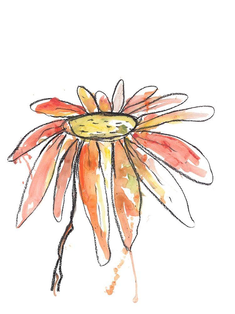konfigurieren des Kunstdrucks in Wunschgröße Orange Modern Botanical von Weiss, Jan
