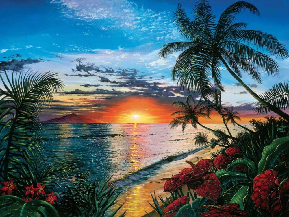 konfigurieren des Kunstdrucks in Wunschgröße Sunset Serenade von Westmoreland, Scott
