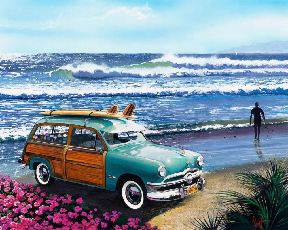 konfigurieren des Kunstdrucks in Wunschgröße Surf City von Westmoreland, Scott