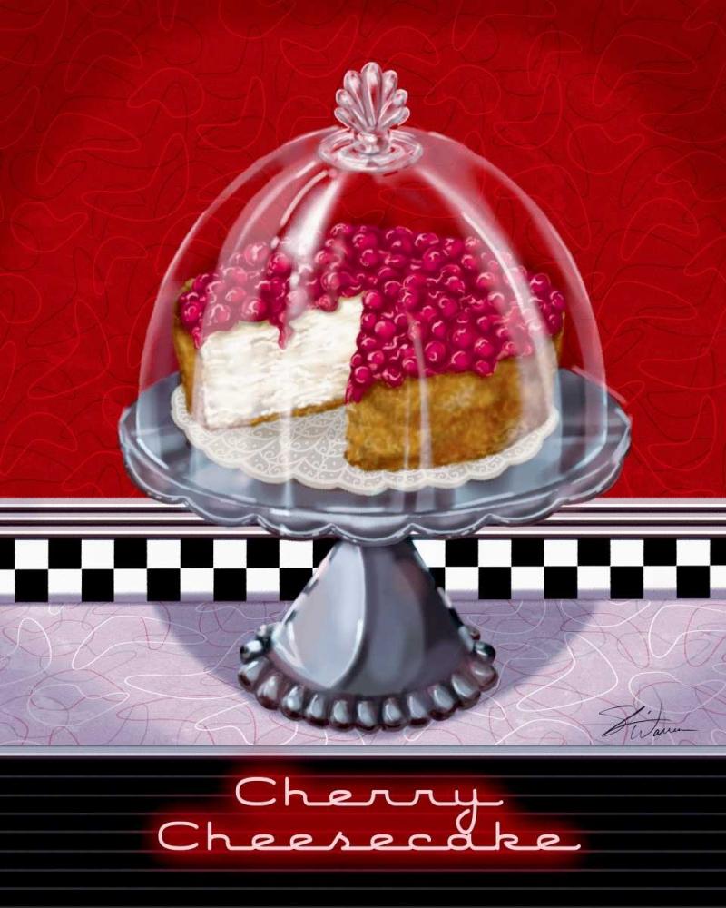 konfigurieren des Kunstdrucks in Wunschgröße Cherry Cheesecake von Warren, Sheri