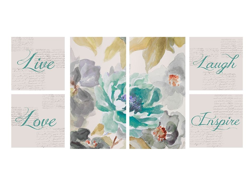 konfigurieren des Kunstdrucks in Wunschgröße Floral Inspiration Collaboration von Loreth, Lanie