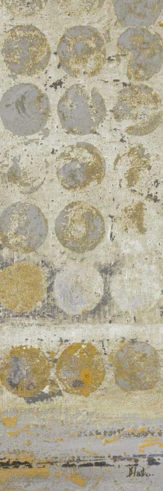 konfigurieren des Kunstdrucks in Wunschgröße Dots on Gold Panel I von Pinto, Patricia