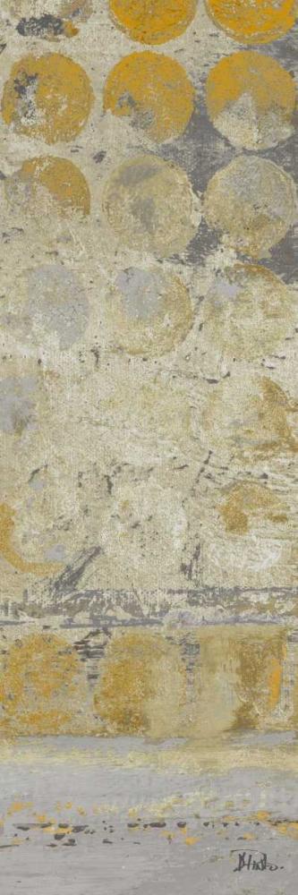konfigurieren des Kunstdrucks in Wunschgröße Dots on Gold Panel II von Pinto, Patricia