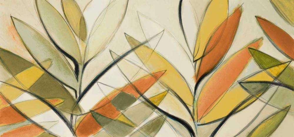 konfigurieren des Kunstdrucks in Wunschgröße Autumn Palm Abstract Panel von Loreth, Lanie