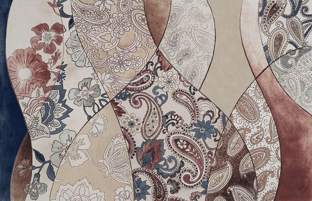 konfigurieren des Kunstdrucks in Wunschgröße Neutral Paisley Coalescence von Loreth, Lanie