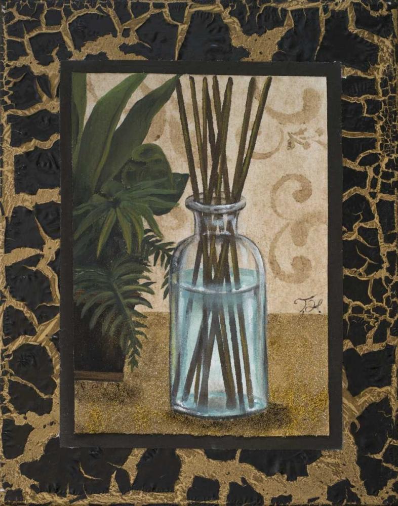 konfigurieren des Kunstdrucks in Wunschgröße Golden Jungle Bath II von Hakimipour, Tiffany