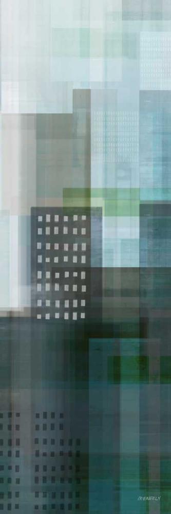 konfigurieren des Kunstdrucks in Wunschgröße City Emerald Panel I von Meneely, Dan
