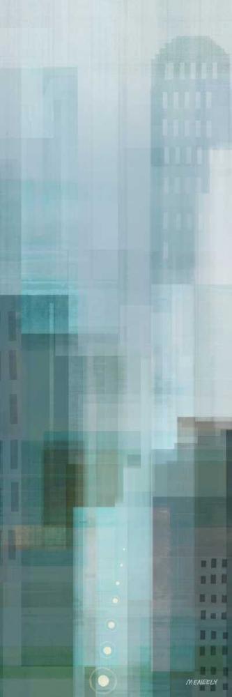 konfigurieren des Kunstdrucks in Wunschgröße City Emerald Panel II von Meneely, Dan