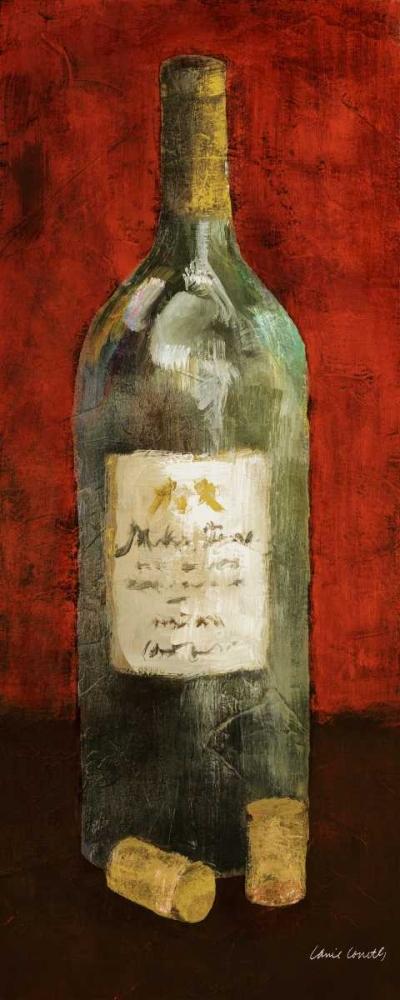 konfigurieren des Kunstdrucks in Wunschgröße Red Wine and Cork II (red background) von Loreth, Lanie