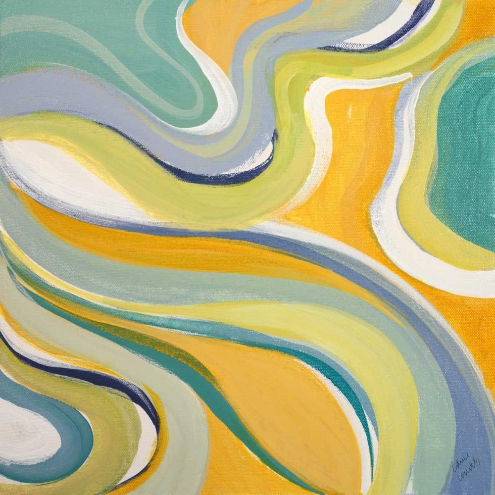 konfigurieren des Kunstdrucks in Wunschgröße Curvilinear Bright II von Loreth, Lanie