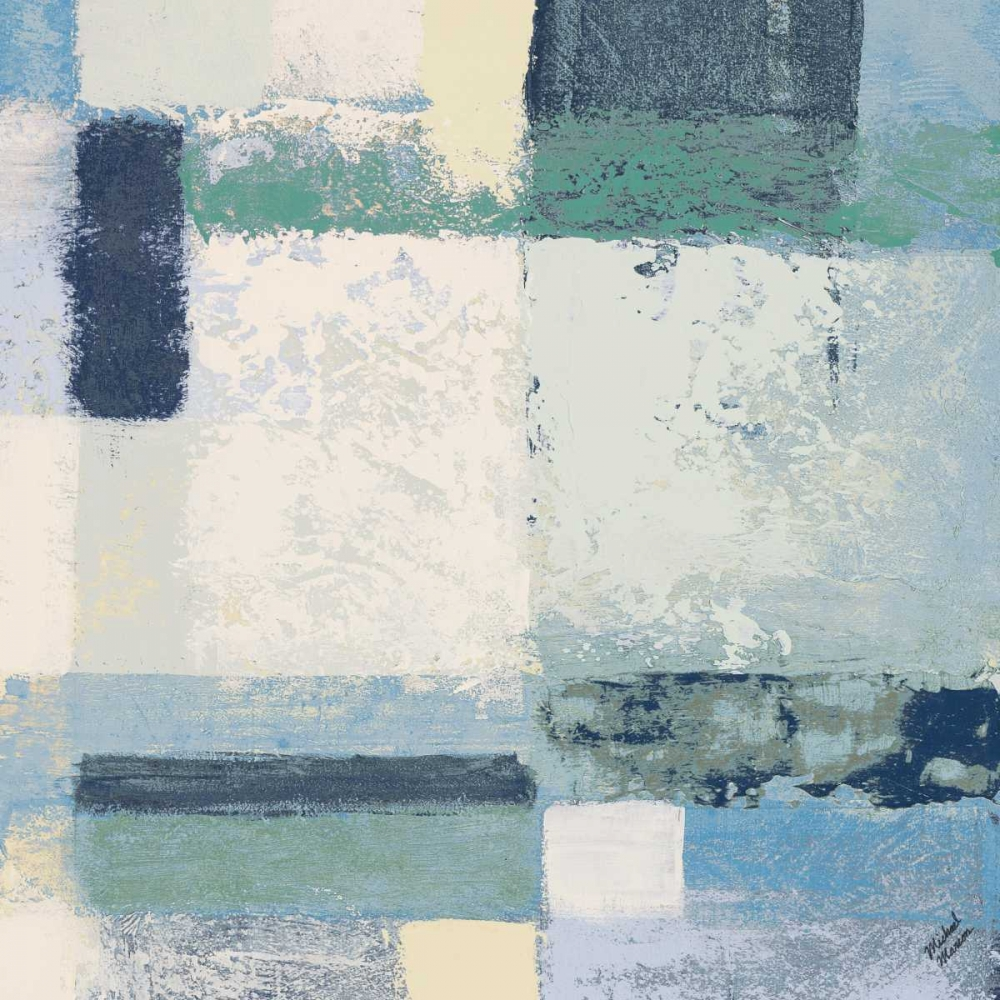 konfigurieren des Kunstdrucks in Wunschgröße Winter Geometry Square I von Marcon, Michael